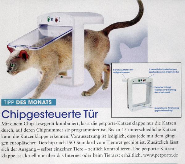 PresseBericht über Petporte in Katzen Extra, Augabe 1/2009